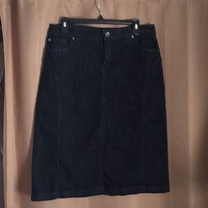 Baccini Denim Skirt Size 8